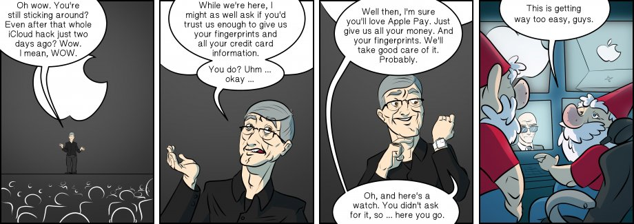 Piece of Me. A webcomic about shady services and odd watches.
