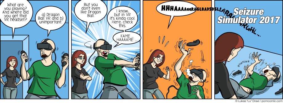 Piece of Me. A webcomic about bad ideas for VR games.