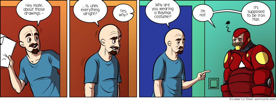 Piece of Me. A webcomic about misunderstandings and bad costumes.