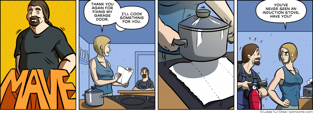 "Piece of Me. A webcomic about cooking and ""new"" technologies."