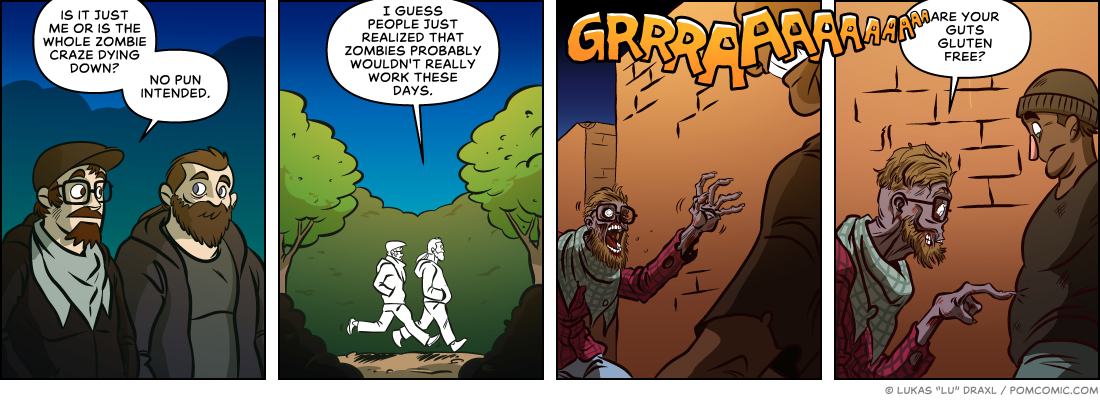 Piece of Me. A webcomic about modern zombie apocalypses.