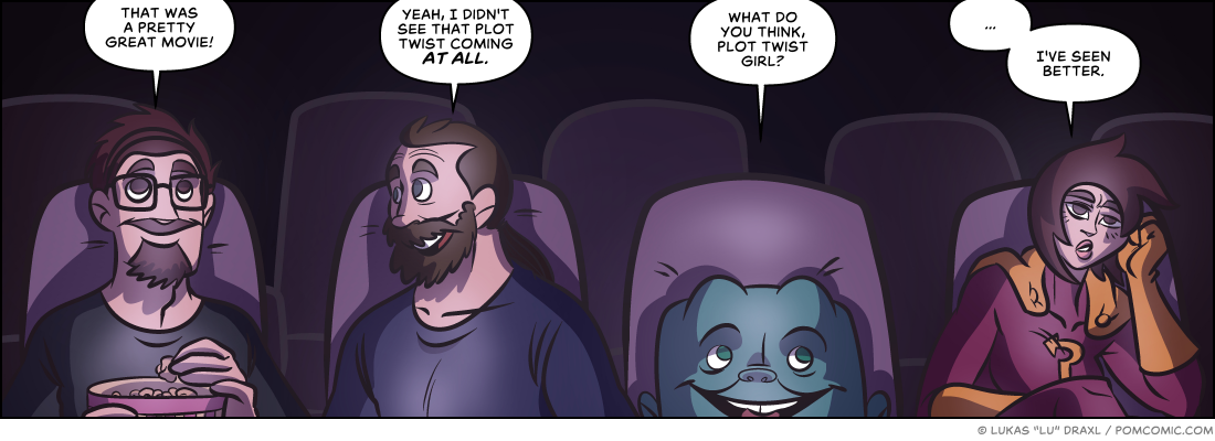 Piece of Me. A webcomic about great movies and mediocre plot twists.