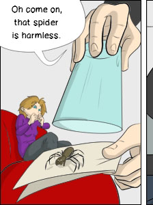 Piece of Me. A webcomic about seemingly harmless spiders...