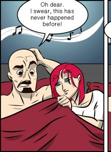 Piece of Me. A webcomic about performance issues in bed.
