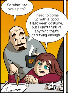 Piece of Me. A webcomic about creative Halloween costumes and The Fappening.