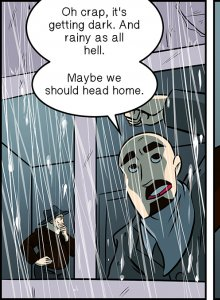 Piece of Me. A webcomic about bad weather and cozy beds.