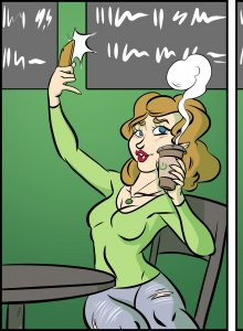Piece of Me. A webcomic about selfies and irony.