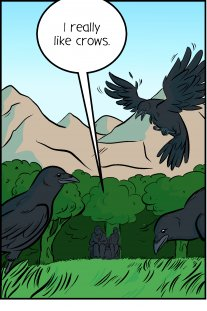 Piece of Me. A webcomic about the difference between crows and ravens.