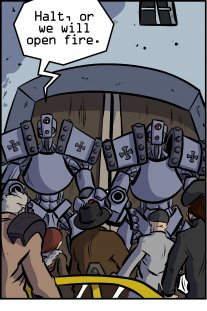 Piece of Me. A webcomic about robot sentries and lame CinemaSins.