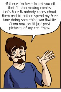 Piece of Me. A webcomic about farewells and major changes. And cat pics.