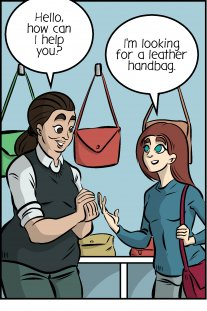 Piece of Me. A webcomic about different types of leather and various handbags.