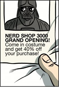Piece of Me. A webcomic about shop openings and costume related misunderstandings.