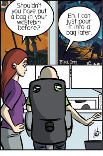 Piece of Me. A webcomic about trash bags and dirty, dirty procrastination.