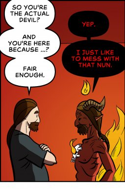 Piece of Me. A webcomic about meeting the devil and underwhelming wishes.