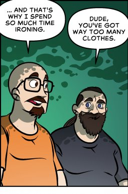 Piece of Me. A webcomic about excessive amounts of pants.