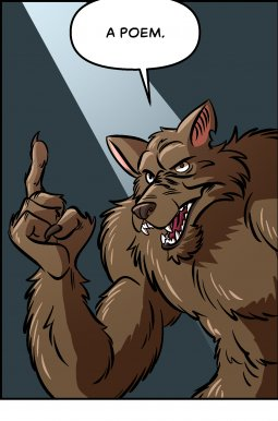 Piece of Me. A webcomic about werewolves and bad poetry.