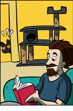 Piece of Me. A webcomic about sneaky cats doing sneaky attacks.