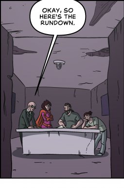 Piece of Me. A webcomic about briefings and doomsday cults.