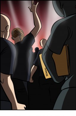 Piece of Me. A webcomic about wrong band shirts and epic fights.